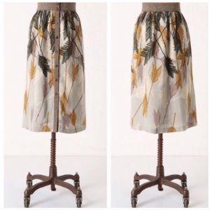 Anthropologie // Edme & Esyllte Feather Skirt SZ 6